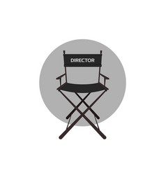 cinema directors chair vector image