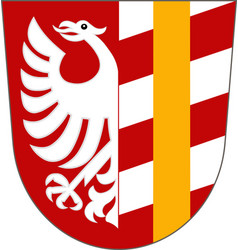 Coat of arms of gunzburg is a district in swabia vector