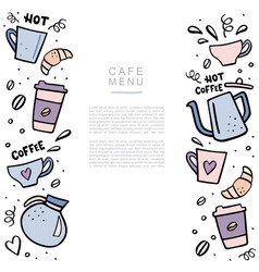 coffee handdrawn banner with space for your text vector image