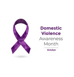 Domestic violence awareness month for web and vector