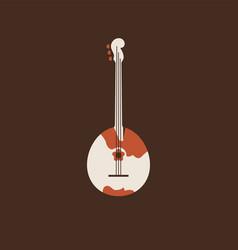 domra flat icon folk music instrument vector image