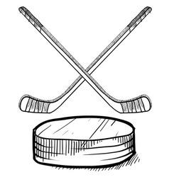 Doodle hockey vector