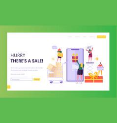 Ecommerce store sale website template shop online vector
