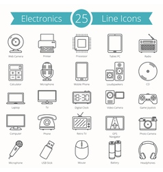 Electronics Line Icons vector image