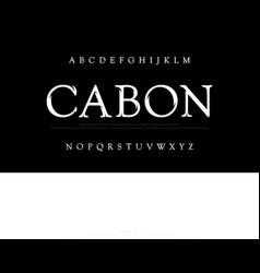 elegant movie alphabet font typography classic vector image