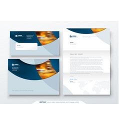envelope dl c5 letterhead corporate business vector image