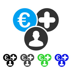 Euro medical expences flat icon vector