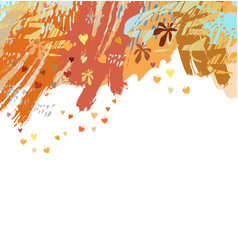 Fall or autumn banner background vector