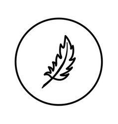 feather icon editable thin line vector image