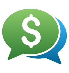 Financial Transaction Chat Gradient Icon vector