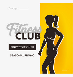 fitness club banner seasonal promo for visiting vector image