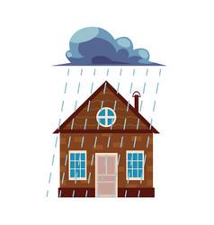 flat house insurance concept set vector image