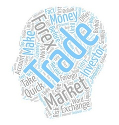 Forex Can You Make Some Quick Money text vector image