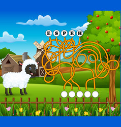 Game sheep maze find way to the word vector