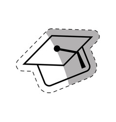 graduation cap school thin line vector image
