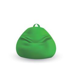 Green lazy bag vector