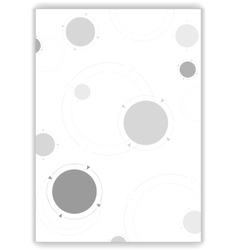 Grey tech circles abstract background vector