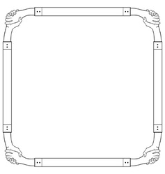 Hand frame vector image