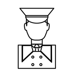 Hotel bellboy icon vector