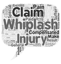 How To Calculate Your Whiplash Claim text vector image