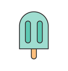 Ice pop or ice bar food and gastronomy set filled vector