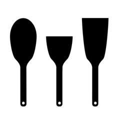 icon set kitchen shovels vector image