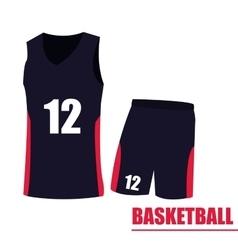 Isolated basketball uniform vector image