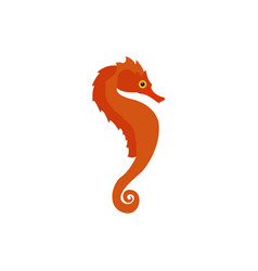 Isolated seahorse icon vector