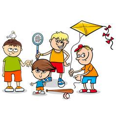 kid boys children characters cartoon vector image