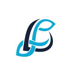 Letter lp modern vector