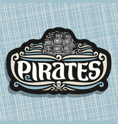 logo for pirates theme vector image