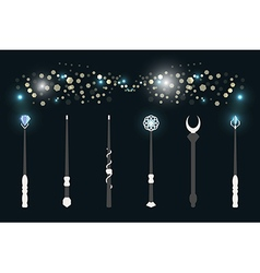 Magic wands vector