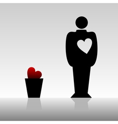 mans heart vector image