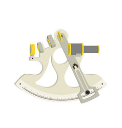 Nautical navigation instrument - sextant vector