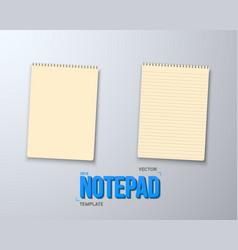 Notepad set realistic empty notepad mockup vector