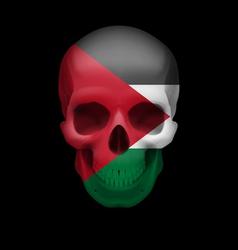 Palestinian flag skull vector