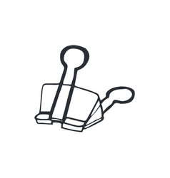 Paperclip sketch isolated vector