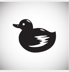 Pet toy duck icon on white background for graphic vector