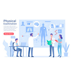 physical system examination and treatment vector image