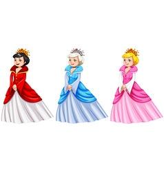 Queens in different costumes vector image