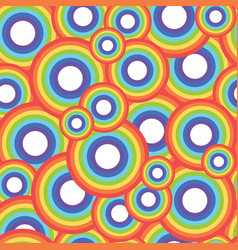 rainbow circle seamless pattern vector image