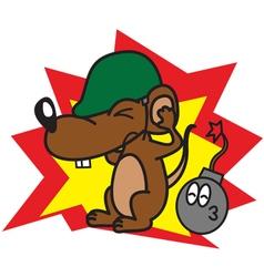 Rat and bomb vector