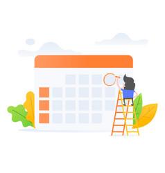 schedule management vector image