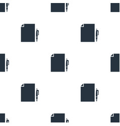 seamless document pattern education symbol from vector image