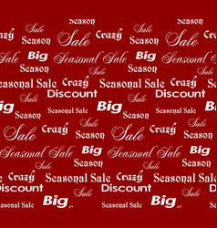 Seamless sale patterns in red colors vector