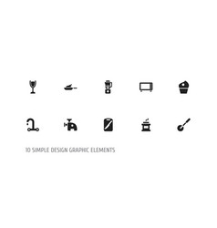 Set of 10 editable food icons includes symbols vector