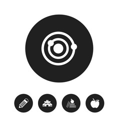 set of 5 editable education icons includes vector image