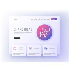 Share ideas creative research development vector