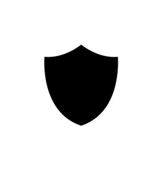 shield icon black on white vector image
