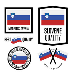 slovenia quality label set for goods vector image